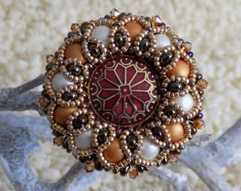 """Vola"""" ring copper and ivory"""