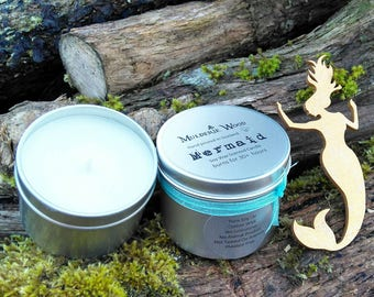 Mermaid Scented Natural Soy Wax Handmade in Scotland Tin Candle