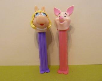 Pez Dispensers, Miss Piggy & Piglet, 1 each
