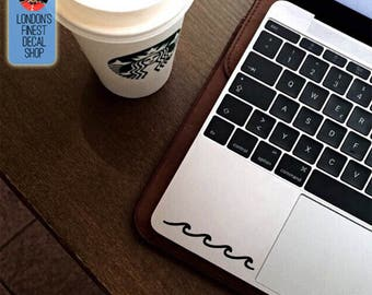 Set of 2 decals - cute waves Macbook / Laptop Vinyl Decal