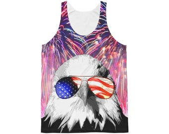 Forth of July Shirt, July 4th tank top, Summer tank top,  All over print shirt