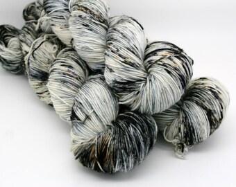 Monochrome 4ply Sock merino superwash nylon hand dyed yarn wool