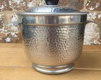 Nasco Hammered Aluminum Ice Bucket