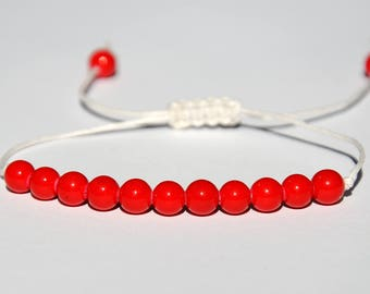 Coral bracelet Wax Cord Bracelet Red bracelet Thread Bracelet best friend bracelet String Bracelet adjustable bracelet friendship bracelets