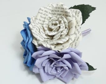 Bridesmaid bouquet, bridal bouquet - Made to order in your choices of paper type/plain colours to fit your theme