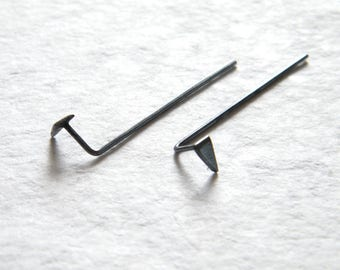 Minimalist ear jackets, Silver ear jackets, Minimalist earrings.