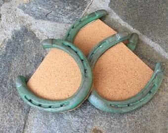 Set of horseshoe coasters.
