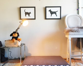 Gray Geo Dog Bed - LARGE