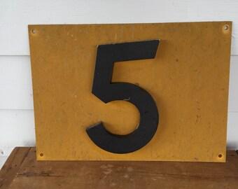 Fiberglass and Metal Railroad Sign Number Five