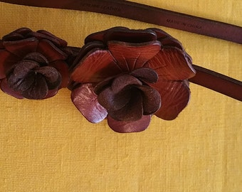 Anne Taylor Leather Rose Belt