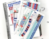 Liberty July Monthly View Planner Kit | 195 Stickers | Planner Stickers | For Erin Condren LifePlanner