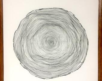 Tree Ring Print