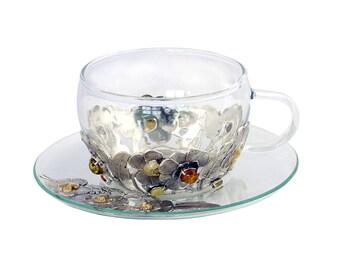 "Silver Tea set ""Flowers"""