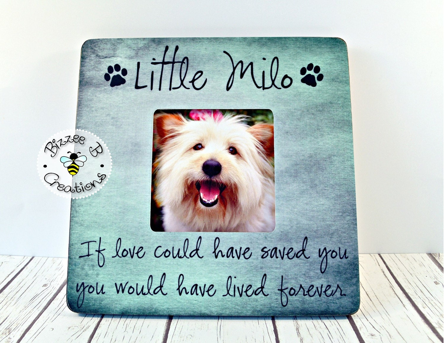 on sale pet picture frame gift if love could have saved you pet memory frame pet memorial gift dog lover in memory of frame dog gift