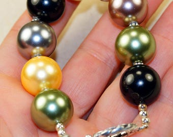 River Pearl  set in Solid 925 Sterling Silver Bracelet by Silver Trend