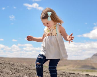 Emroidered Wheat Feilds Tunic Top Baby/Toddler