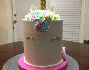 Unicorn Horn Cake topper Set Free US shippingUnicorn