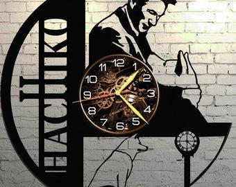 VINYL WALL CLOCK Hachiko, best gift, original gift