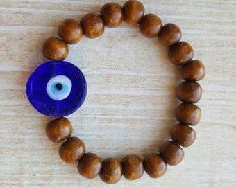 Evil Eye Bead Bracelet Blue Evil Eye Bracelet Protective Bracelet Evil Eye Jewelry Nazar Bracelet Turkish Jewelry