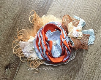 M2M WDW Margerette Tunic and Dress buent orange sky blue vintage details whimsical woods