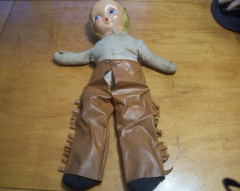 Unmarked Cowgirl Doll