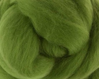 Leaf Merino Tussah Silk Combed Top Wool One Ounce for Felting and Spinning