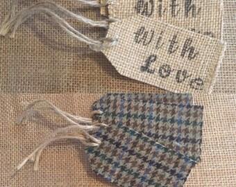 Hessian & tweed Rustic Gift Tags
