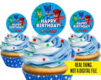 PJ Mask Cupcake Topper - PJ Masks Birthday - PJ Masks