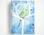 Parakeet Notebook | Journal | Studio Carrie Notebook | Gift | Childrens