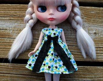 Tulip Black & Blue Blythe Dress