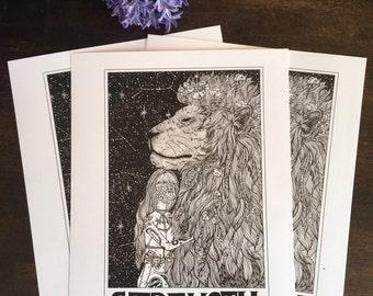 Strength Tarot Card Print
