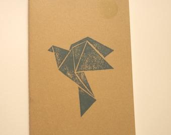 Address crane Moleskine 13 x 21 cm cover kraft linograve