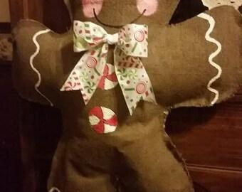 Burlap Gingerbread Boy/Girl