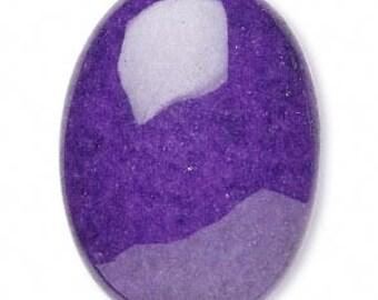 Purple Cabochon, purple Mountain Jade, Grade B, Purple Gemstone, 30x22mm Oval Cab, 1 each, D338