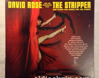 David Rose THE STRIPPER LP 1962 Nelson Riddle Henry Mancini Les Baxter Cy Coleman Vintage Jazz