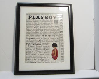 Vintage Playboy Magazine Cover Matted Framed : June 1961 - Heidi Becker