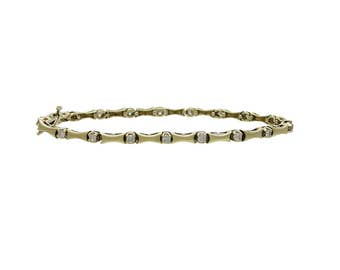14K Gold And Diamond Articulated Link Bracelet