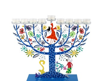 Menorah, Hanukkah Gifts for Adults, Home Decor Jewish Menorah, Chanukah  Hanukkah Modern Menorah