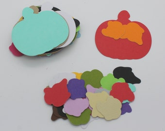 Pumpkin Halloween: set of die - cut cut-outs