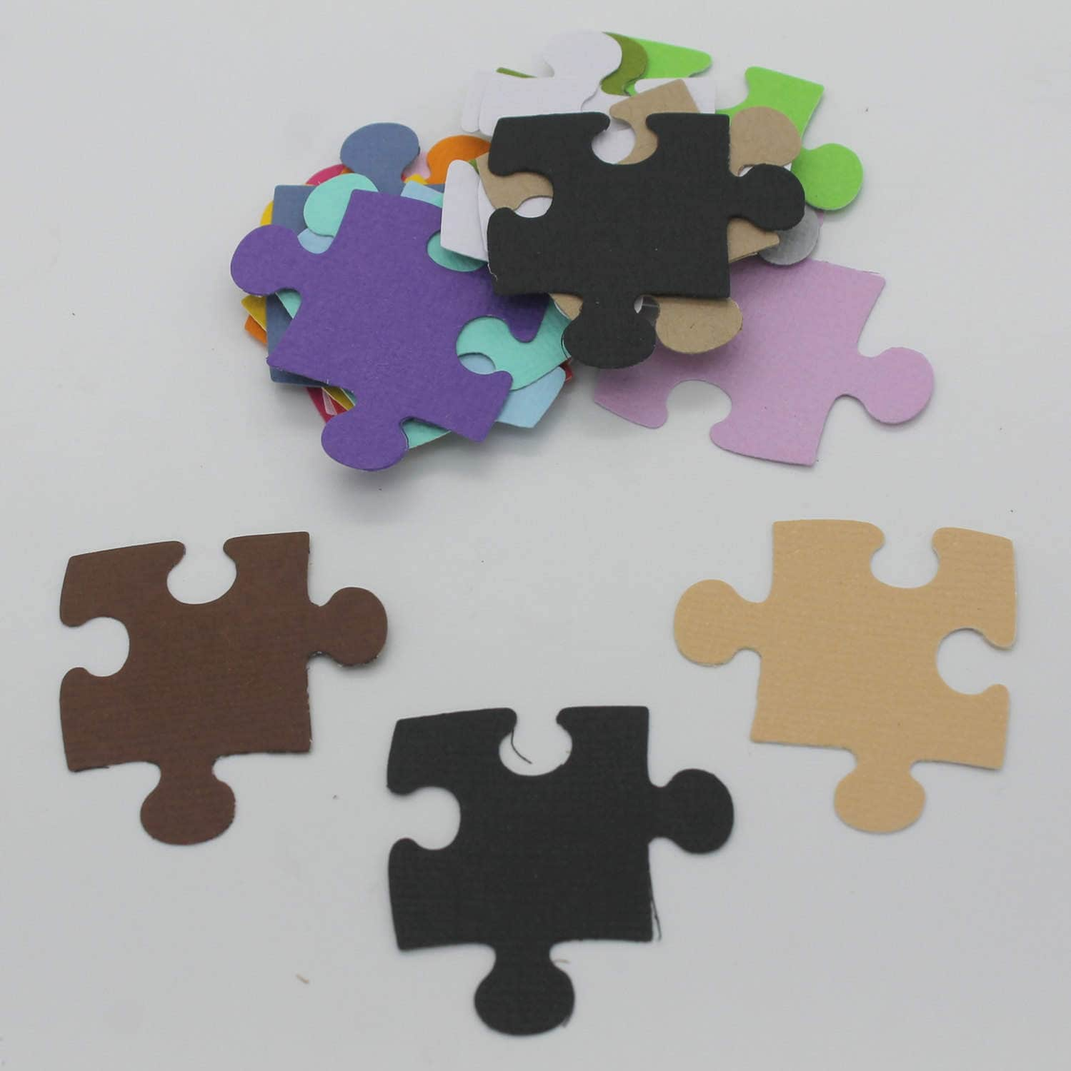 puzzle set of die cut embellishment scrapbooking