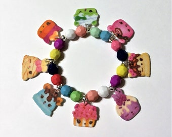 Num Noms 8 Charm Bracelet, Num Noms Bracelet, Num Noms Birthday Party Favor