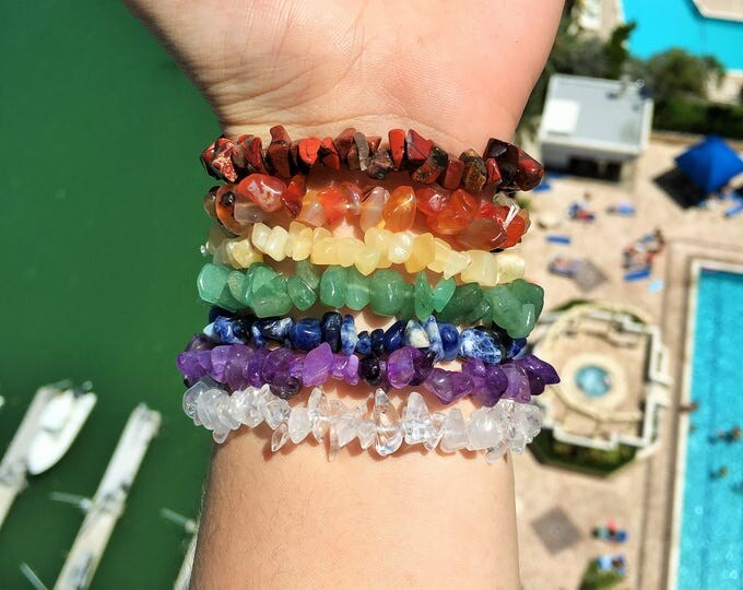 Featured listing image: 7 Chakra Healing Bracelet SET charged w/ Reiki Peferfect for Meditation, Healing, Balance