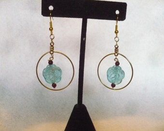 Crystal rose persuasion earrings (A20)
