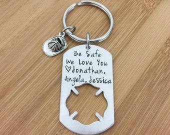 Firefighter Gift - Dad Gift - Father's Day Keychain - Gifts for Him - Firefighter Keychain - Fireman Gift - Personalized Keychains - Men