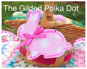 Personalized Easter Basket, Easter Basket Tag, Monogram Easter Basket, Easter Decor