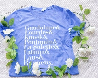 Marian tee - Catholic shirt, catholic apparel, Catholic gifts, catholic gifts for her