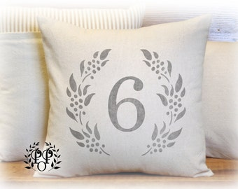 Custom Number Pillow Cover