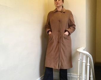 Tan & Super Soft Vintage Winter Coat by Abbmoor