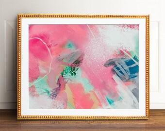 Colorful art, PRINTABLE art, Abstract wall art, Abstract art, Modern painting, Abstract painting, Brushstroke art, Abstract print, Pink art