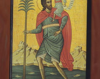 Christopher the Martyr of Lycea,mount Athos. Christian orthodox icon.FREE SHIPPING